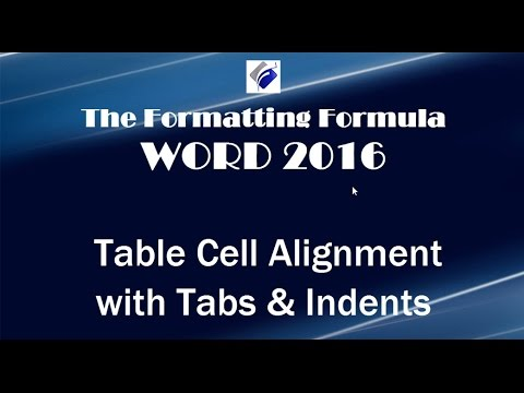 Word 2016   Table Cell Alignment with Tabs and Indents