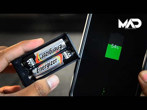 Can you charge your phone with AA battery?