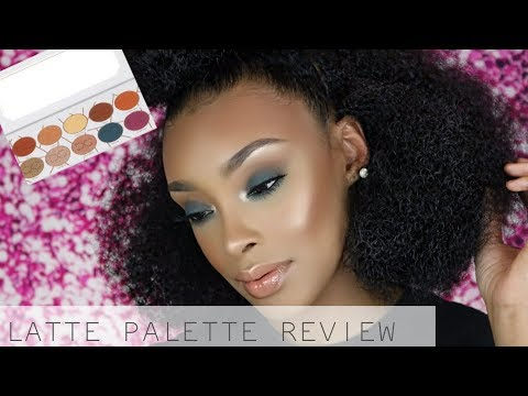 DOMINIQUE COSMETICS LATTE PALETTE REVIEW AND TUTORIAL... IS IT WOC FRIENDLY?