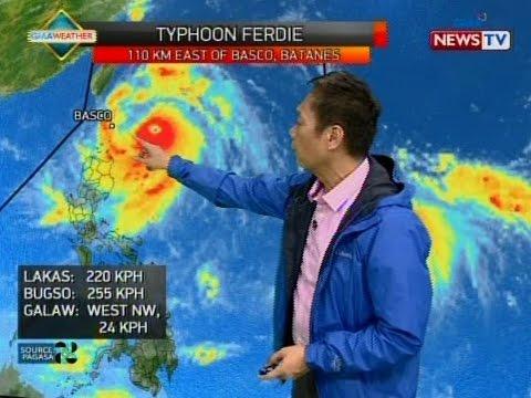 SONA: Bagyong Ferdie, lalong lumakas habang patuloy na lumalapit sa Batanes Group of Islands