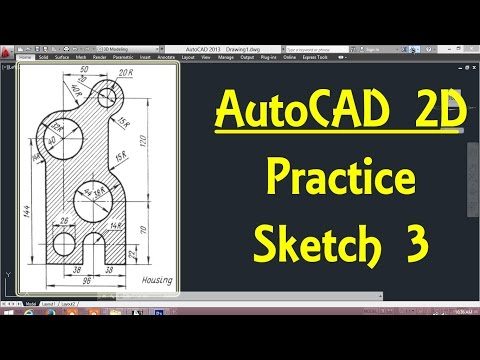 2D Autocad practice drawing 3 in AutoCAD By Engineer AutoCAD Tutorials