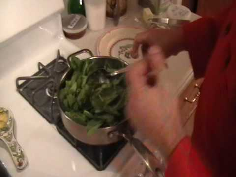 how to cook the best fresh spinach