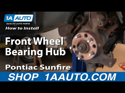 How To Install Replace Front Wheel Bearing Hub Chevy Cavalier Pontiac Sunfire 84-05 1AAuto.com