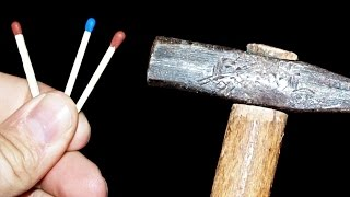 How to Light a Match with a Hammer and Matchbox! Easy Trick with Matches