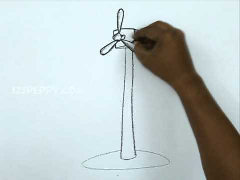 How to Draw a Wind Mill