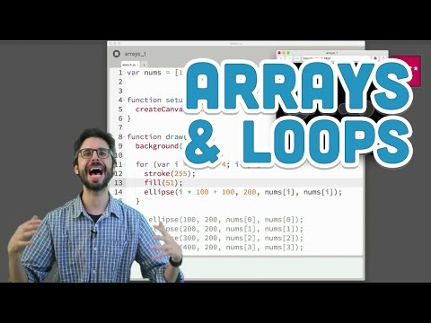 7.2: Arrays and Loops - p5.js Tutorial