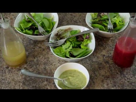 3 Simple, Delicious,  and Healthy Salad Dressing Recipes! DDK EP 22