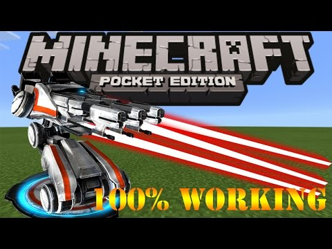 How to make Laser Tower in Minecraft PE | NO MODS