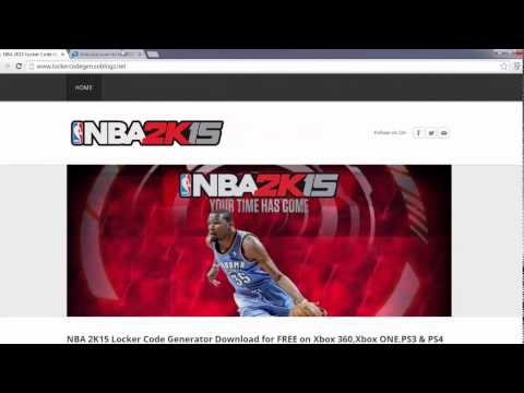 NBA 2K15 Locker Code Download Free on Xbox 360,XBOX One,PS3,PS4
