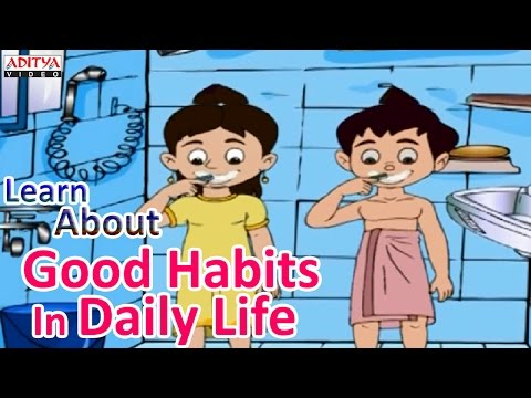 Learn About Good Habits For Kids In Daily Life - Pre And Play School Learning Rhymes