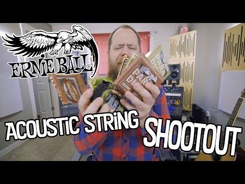 Ernie Ball Acoustic String Shootout!