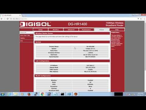 How to set Digisol DG-HR 1400  Router & Wifi password change