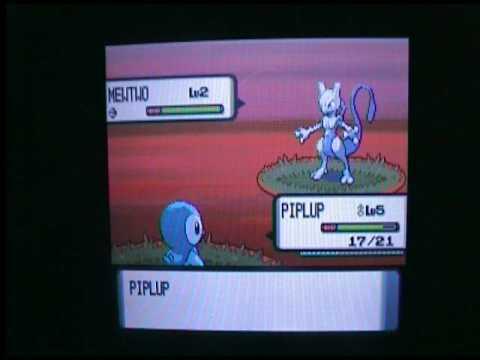 Pokemon D/P: Cheat to get Mewtwo