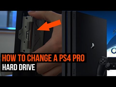 How to change a PS4 Pro hard drive