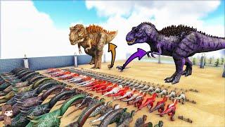 Omega Rex & Alpha 06 VS Vanilla & Mod Dinos   ARK Mod Battle Ep.169