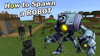 How to Spawn a ROBOT | Minecraft PE