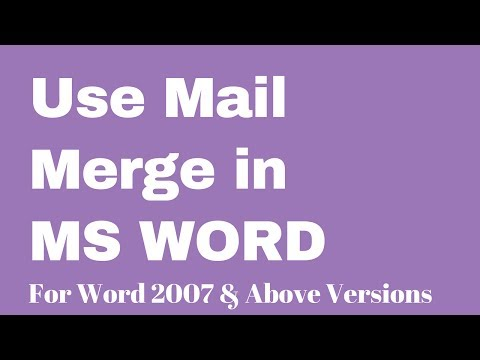 How To Use Mail Merge In MS Word