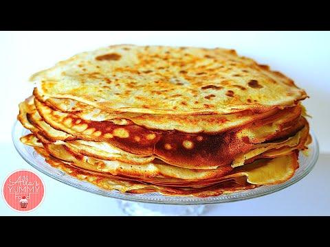 How to Make Blini | Russian Pancakes Recipe | Как сделать Блины
