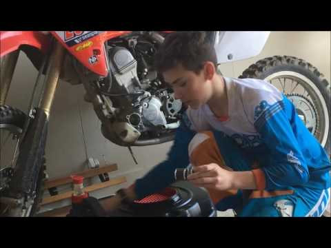 how to do oil change crf 150rb and clean oil filter