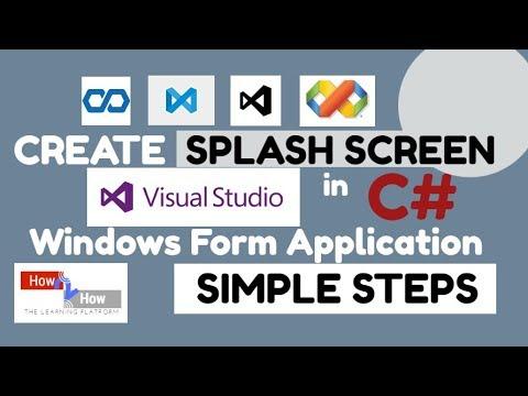 How to Create Splash Screen in C# Windows Form Application - C# Tutorials
