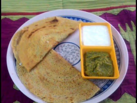Morning Breakfast-Oats moong dal Chilla.recipe in hindi.by Dr.Anamika Johari.