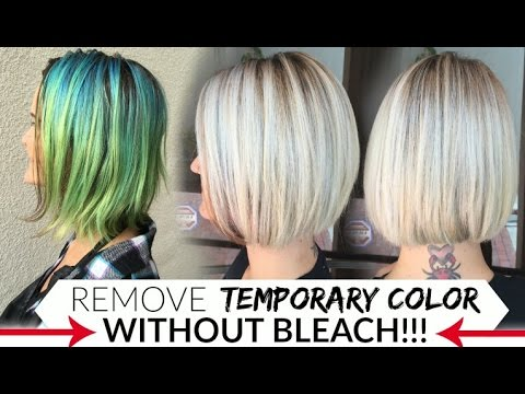 Remove Temporary Color's WITHOUT Bleach!