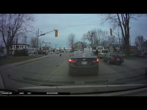 Feb 28 2017 Crossing Guard not doing their job Southworth and Lincoln in Welland