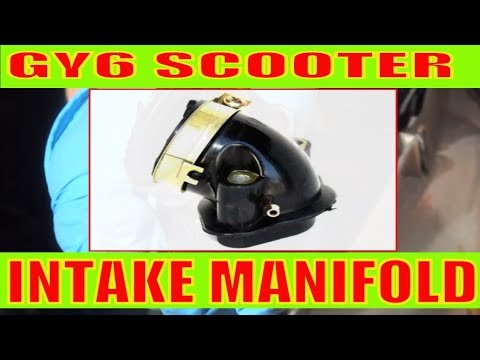 How to change intake manifold on a scooter 150cc/49cc motorcycle
