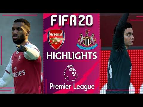 Arsenal vs Newcastle | FIFA 20 PREMIER LEAGUE 2019/20 | Gameweek 26 Highlights