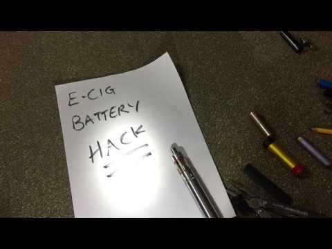 Emergency power source flashlight life hack E-Cig battery EDC prepper