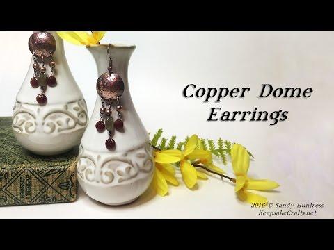 Copper Dome Earrings-Jewelry Tutorial