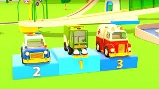 Lehrreicher Cartoon - Rettungsfahrzeuge - Teil 3 - Das Rennen
