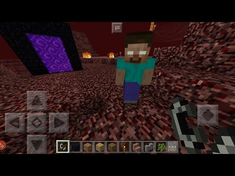 What Happens When You Spawn Herobrine in The Nether? - Minecraft PE (Pocket Edition)