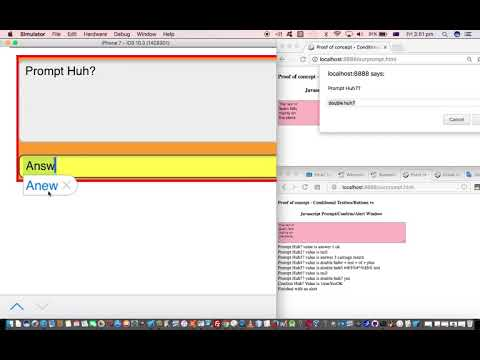 Conditional Alternative to Javascript Popup Windows as Textboxes and Buttons