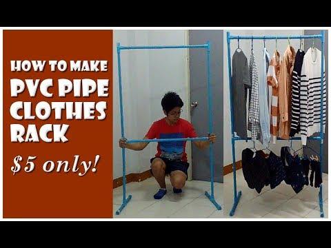DIY PVC Clothes Rack