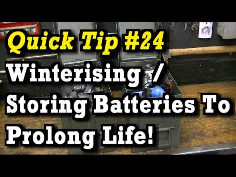 Quick Tip #24 : Winterising / Storing Batteries During Winter, Helps Prolong Battery Life!!!
