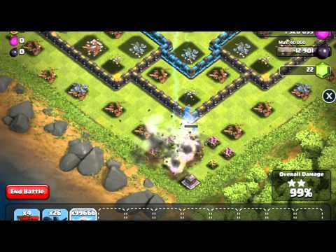 Clash of Clans - Unlimited Lightning Spell Raid