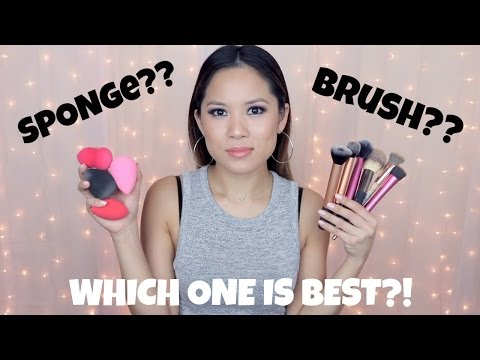 SPONGE or BRUSH? | BEST WAY TO APPLY FOUNDATION! | Makeup for Beginners