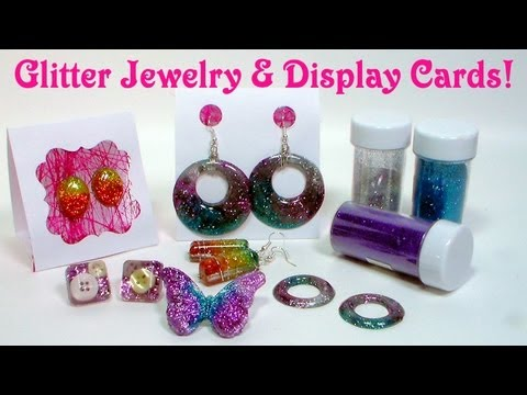 glitter resin jewelry
