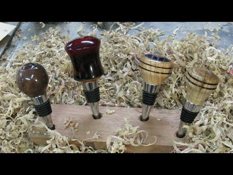 #118 Woodturning Bottle Stoppers--My Way