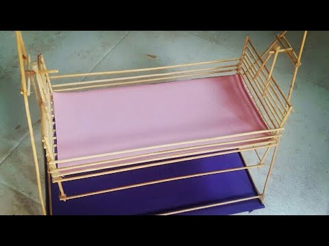 How to make a small bed by chopsticks, a very easy way.