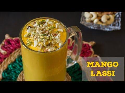 Mango lassi recipe using mango pulp-Sweet Lassi-How to make Lassi at Home-Kalimirchbysmita-Ep271