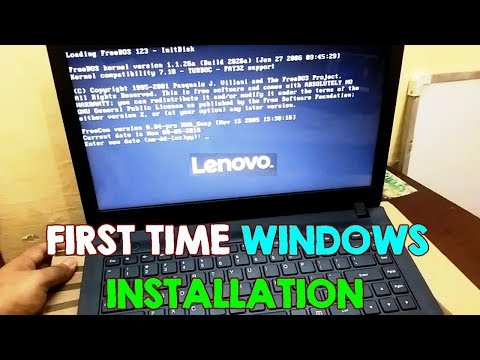 Install Windows on Lenovo FreeDos NO OS Laptops, BIOS Setup (First Time Installation) Ideapad 100