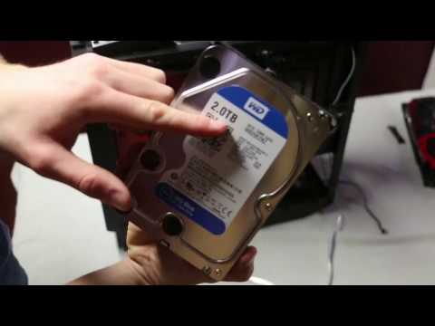 Building a Gaming PC | Step 6 - Installing HDD and SSD