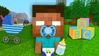 BABY MINECRAFT - STEVE AND ALEX MEET BABY HEROBRINE !☠️