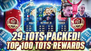 29 TOTS PACKED! MY CRAZY TOP 100 TOTS FUT CHAMPS REWARDS W/HASHTAG HARRY & TOM FIFA 20 ULTIMATE TEAM