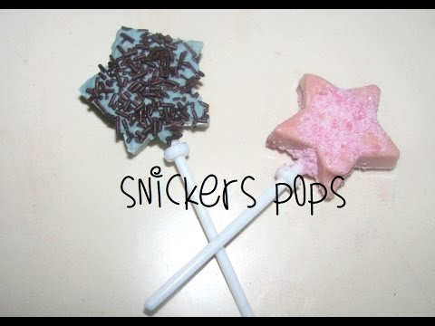 How to Make Star Shaped Snickers Pops
