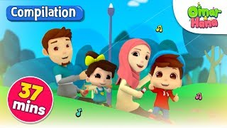 Omar & Hana | Inshaallah, Everything Belongs to Allah & More | Islamic Nursery Rhymes