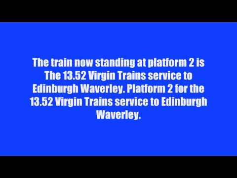 British Railway Station Train Announcements 2017 Number 6 Newcastle Central 26th Jan 2016
