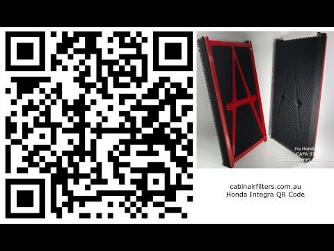 Honda Integra cabin air filter install video